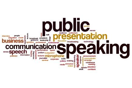 Public speaking word cloud